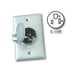 Leviton 4937 15a 125v 2 Pole 3 Wire Weatherproof Flush
