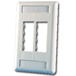 Legrand - Ortronics TracJack 4-Port Single Gang Plastic Faceplate