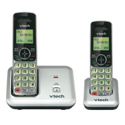 Vtech Expandable DECT 6.0 Cordless Telephone with Call Waiting Caller ID and 2 Handsets