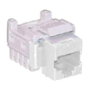 K610  TrueNet Category 5e Modular Jack, White, RJ45 T568A/B