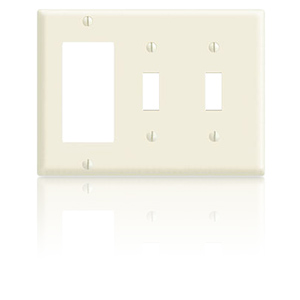 Leviton 2-Toggle/1-Decora, 3-Gang Faceplate