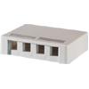 Surface Mount Box for Four Keystone Jacks or Modules