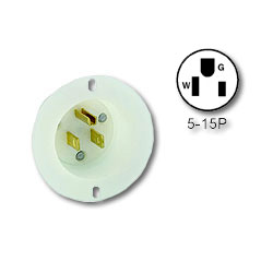 Leviton Flanged Inlet Receptacle