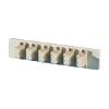 Bottom Adapter Plate, 6-LC Duplex (12 Fibers) Multimode, Beige Adapters, Phosphor-bronze Alignment Sleeves