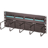 Cat6 Hinged 24-port Panel with Lower Cable Management Panel, Six-port Modules, Standard Density