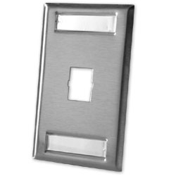 Legrand - Ortronics TracJack� 1-Port Single Gang Stainless Steel Faceplate