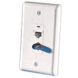 Legrand - Ortronics TracJack� In-House Single Gang Faceplate