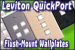 Leviton QuickPort Flush-Mount Wallplates