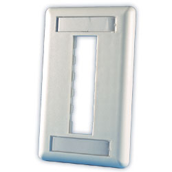 Legrand - Ortronics TracJack� 3-Port Single Gang Plastic Faceplate
