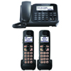 Expandable Digital Cordless Answering System with 1 Corded and 2 Cordless Handsets