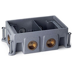 Legrand - Wiremold OmniBox Series Two-Gang Stamped Steel Floor Box