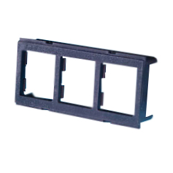 Legrand - Ortronics Rear-Load Three Port TracJack� Adapter Plate for Furniture Opening (Pkg of 5)