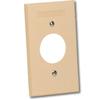 Single Gang Plastic Faceplate for Simplex Floor Jacks