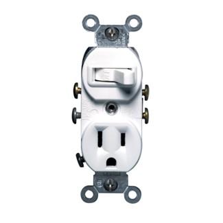 Leviton Single-Pole Switch/ Combination Receptacle