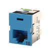 Clarity� 10G TracJack�, T568A/B, 180 Degree, Blue