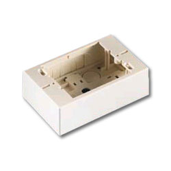 Legrand - Ortronics Single Gang Surface Mount Box, Low Profile, 1.5