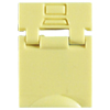 Colored Designation Shutters, Data, Light Yellow (Package of 100)