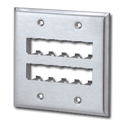 Mini-Com Stainless Steel Faceplates