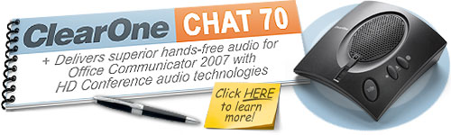 ClearOne CHAT 70 Personal Speakerphone with Microsoft Office Communicator 2007