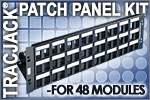 Ortronics TracJack Patch Panel Kit for 48 Modules