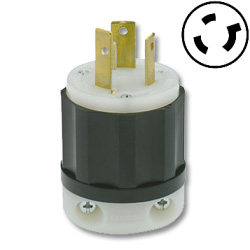 Leviton 30 AMP, 480V, Black Nylon Locking Plug