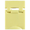 Colored Designation Shutters, Blank, Light Yellow (Package of 100)