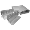 ALDS4000 Designer Series Aluminum Raceway Flat Elbow Fitting