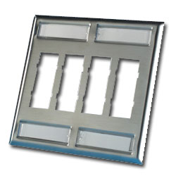 Legrand - Ortronics TracJack™ 8-Port Dual Gang Stainless Steel Faceplate