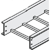 Aluminum PW Cable Tray, Straight Section, 12'