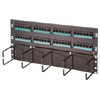 Cat6 Hinged 48-port Panel with Lower Cable Management Panel, Six-port Modules, Standard Density