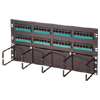 Clarity 5E Standard Density Patch Panel with Hinged Cable Management and Six-Port Modules