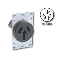 leviton 50amp 125 250v flush mount receptacle nema 10 50 leviton 50amp 125 250v flush mount receptacle