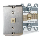 Stainless Steel Wall Phone Jack