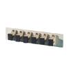 Bottom Adapter Plate, 6-SC Simplex (6 Fibers) Multimode, Beige Adapters, Phosphor-Bronze Alignment Sleeves