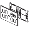 6000/4000 Series Four-Gang Overlapping Cover Four Duplex Openings