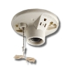 Incandescent Lampholder - 660 Watt 125V Lampholder Outlet 15 Amp-125V One-Piece Pull Chain Top Wired