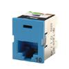 Clarity™ 10G TracJack™, T568A/B, 180 Degree, Blue