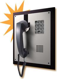 allen tel phones, built-in phones, wall-mounted phones, no dial phones