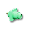 18 Series - Female Ball Nose Threaded Stud Panel Receptacle 400 Amp Max.