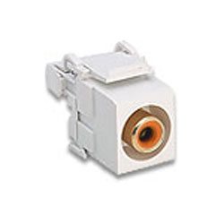 Leviton RCA 110-Type QuickPort PCM Audio Connector with Orange Barrel