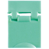 Colored Designation Shutters, Blank, Light Green (Package of 100)