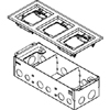 880W3 Series Three-Gang Steel Floor Box with Flange