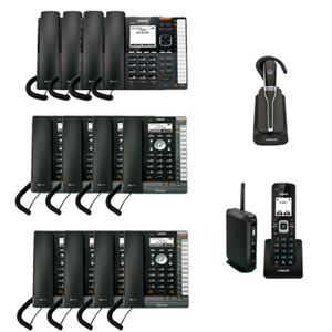 ErisTerminal SIP System with (4) VSP736 (8) VSP726 Desksets (1) VSP600 Base Station with Cordless Handset and (1) VSP505 Cordless Headset