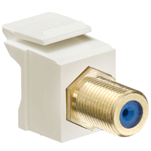 Leviton QuickPort F-Type Adapter (Gold-Plated)