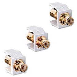 Leviton RCA Bulkhead Module, Gold Plated