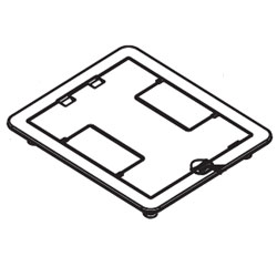Legrand   Wiremold FloorPort Flanged Cover Assemblies For Fire Classified  RFB4 And RFB2 Series Floor Boxes