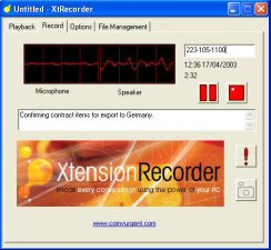 USB phone recorder, USB recorder, Xtension Recorder, phone recorder