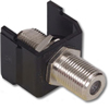 Coaxial F-Type Coupler Snap-Fit Module