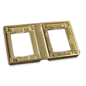 Legrand - Wiremold Two Gang Brass Tile Flange