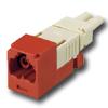 Mini-Com FJ Opti-Crimp X-Keyed Duplex Jack Red Module 62.5/125um